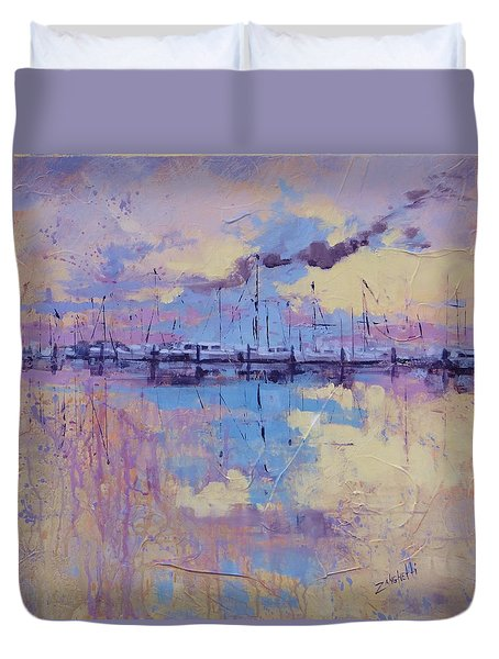 Dimensions  Duvet Cover by Laura Lee Zanghetti