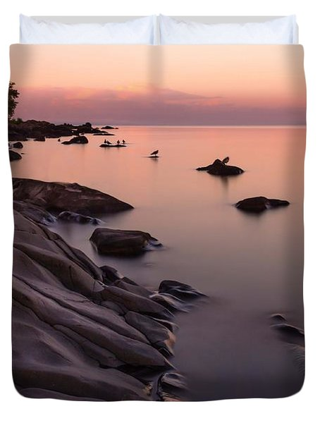 Dimming Of The Day Duvet Cover by Mary Amerman