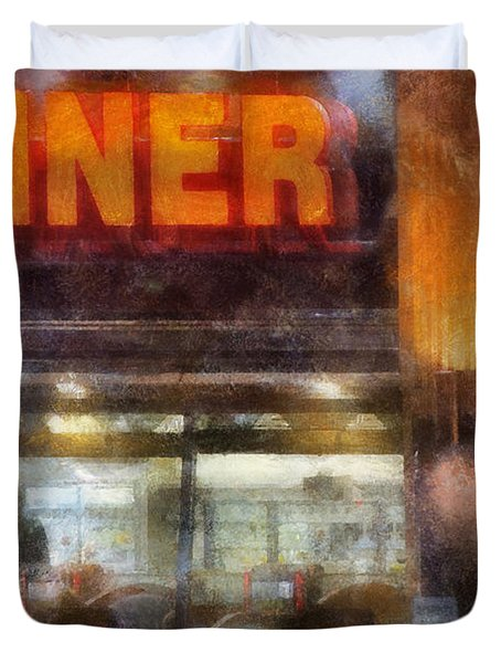 Diner Duvet Cover by Francesa Miller