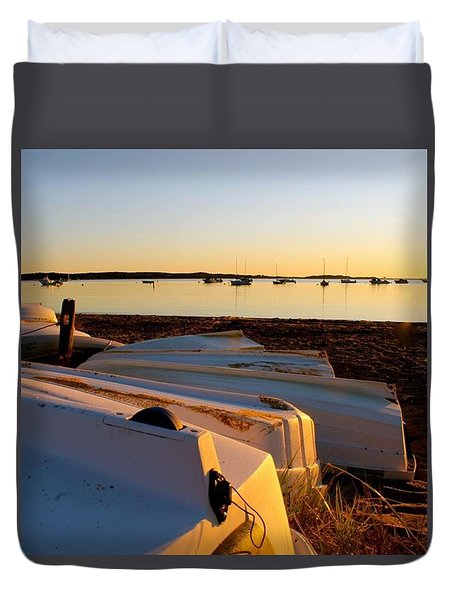Dinghies Duvet Cover by Justin Connor