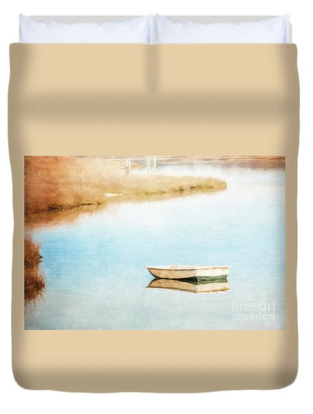 Dinghy In Eastham Duvet Cover