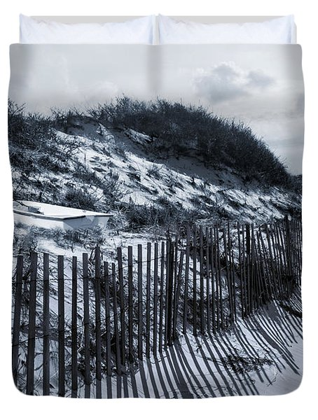 Dinghy In The Dunes Duvet Cover