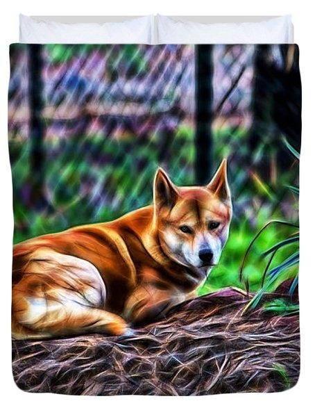 Dingo From Ozz Duvet Cover by Miroslava Jurcik