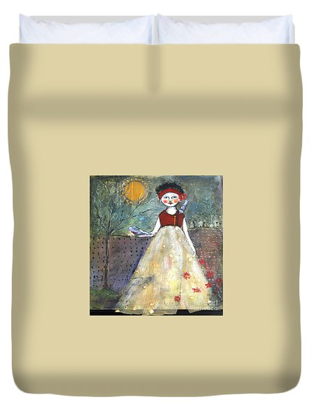 Dining By Midnight  Duvet Cover