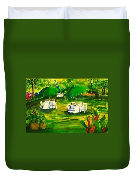 Dining In The Park Duvet Cover