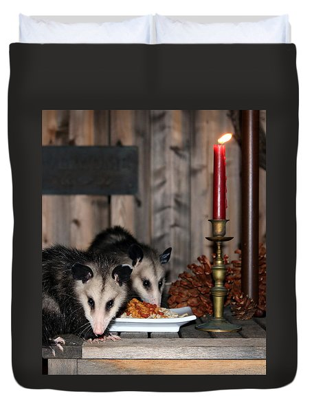 Dining Possums IIi Duvet Cover