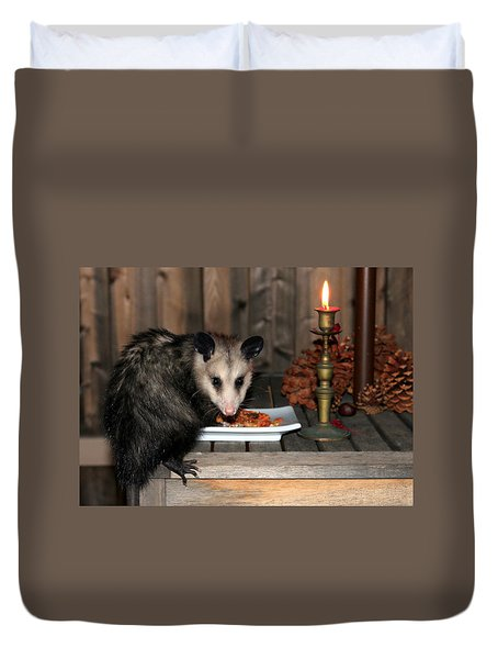 Dining Possums Iv Duvet Cover