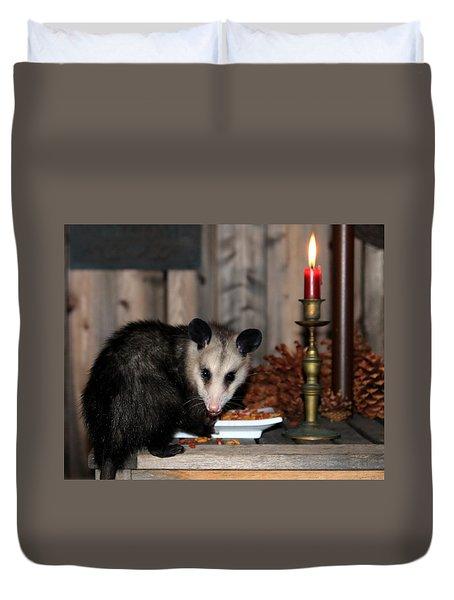 Dining Possums V Duvet Cover