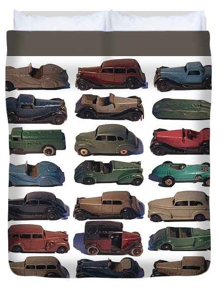 Dinky Car Park Duvet Cover by John Colley