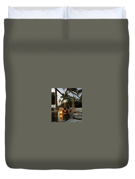 Dinner At The Beach Duvet Cover