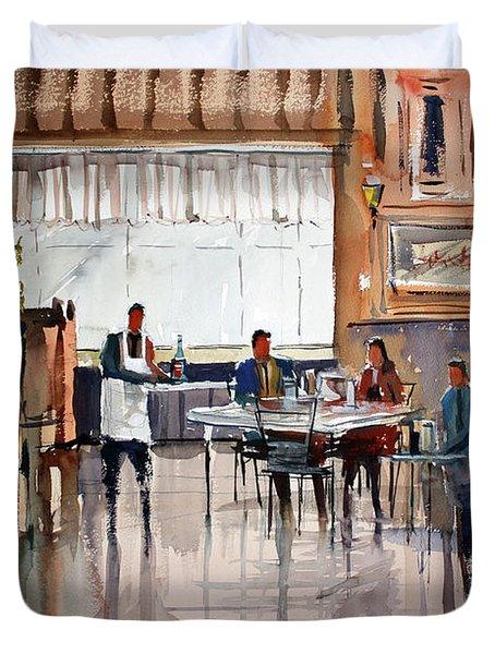 Dinner For Two Duvet Cover by Ryan Radke