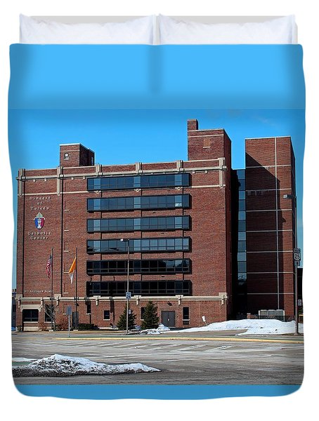 Duvet Cover featuring the photograph Diocese Of Toledo In Winter by Michiale Schneider