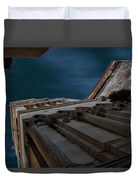 Duvet Cover featuring the photograph Diocletian Palace  by Danica Radman
