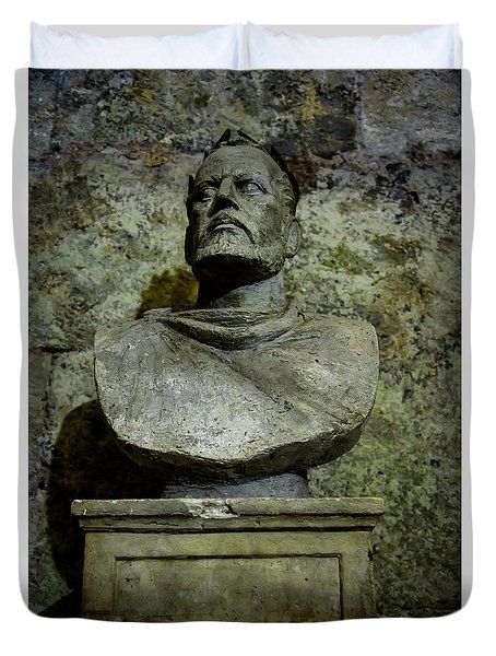 Diocletian Scuplture In The Cellers Of Diocletian's Palace, Split, Croatia Duvet Cover