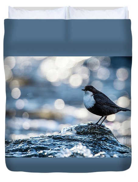 Dipper On Ice Duvet Cover by Torbjorn Swenelius