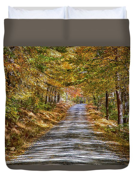 Dirt Road Duvet Cover by Hugh Smith
