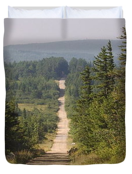 Dirt Road To Dolly Sods Duvet Cover
