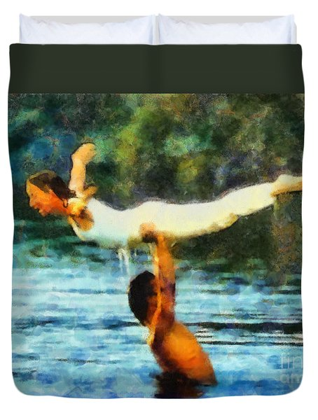 Duvet Cover featuring the painting Dirty Dancing by Elizabeth Coats