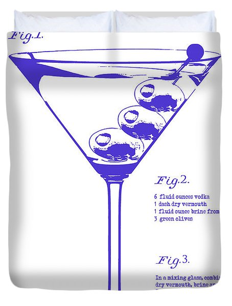 Dirty Martini Blueprint Duvet Cover by Jon Neidert