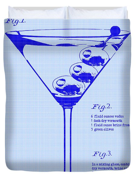 Dirty Martini Patent Duvet Cover by Jon Neidert