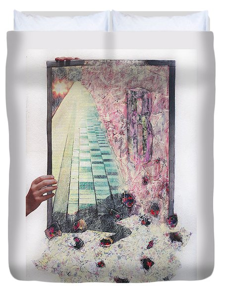 Duvet Cover featuring the painting Dirty Slumber  by Geraldine Gracia