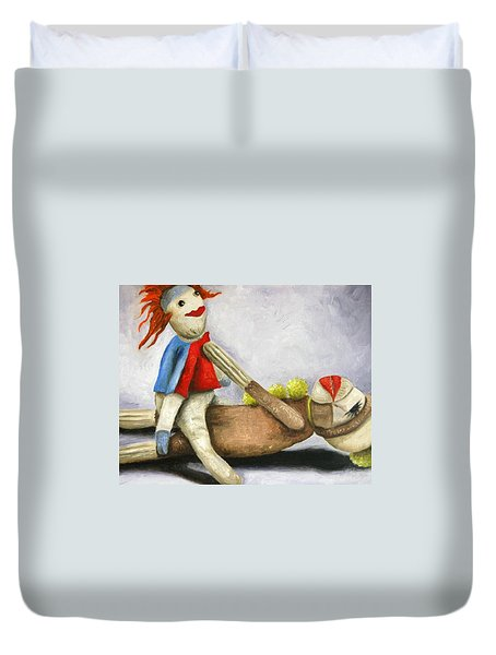 Dirty Socks 2 Still Dirty Duvet Cover by Leah Saulnier The Painting Maniac