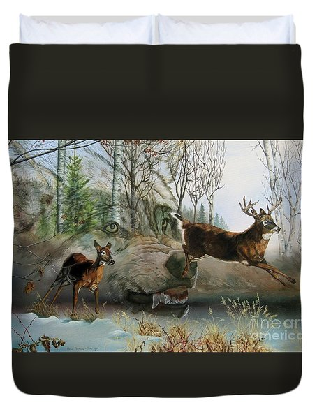 Disappearing Predator Duvet Cover