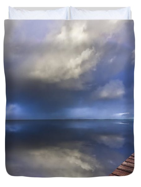 Disappearing Rainbow Duvet Cover by Debra and Dave Vanderlaan