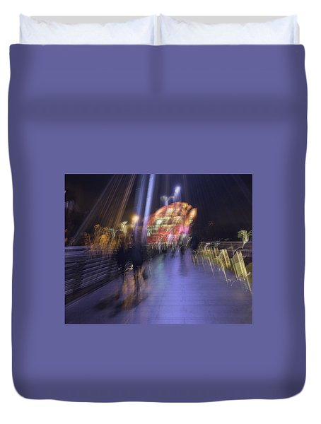 Duvet Cover featuring the photograph Disassembly by Alex Lapidus