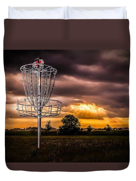 Disc Golf Anyone? Duvet Cover