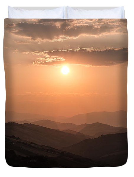 Disciples Of The Sun Duvet Cover