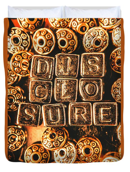Disclosure Duvet Cover