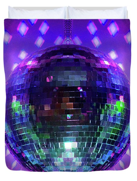 Disco Ball Purple Duvet Cover