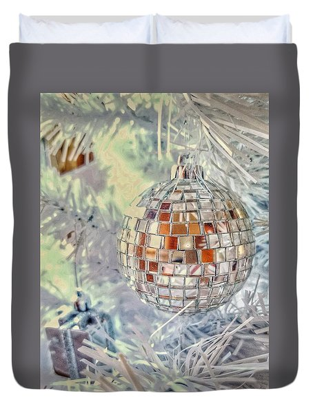 Disco Ball Tree Ornament Duvet Cover