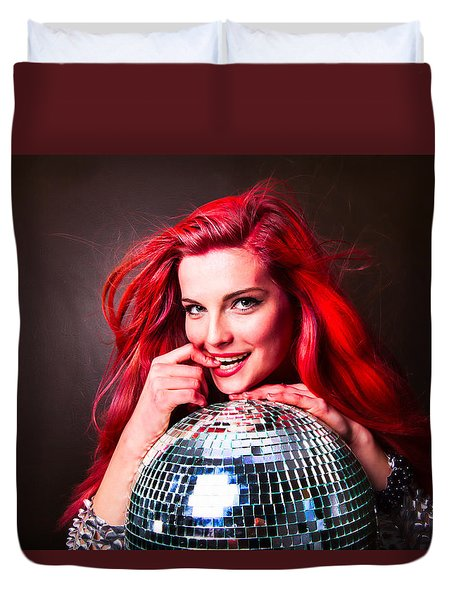 Disco Smile Duvet Cover