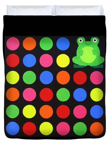 Discofrog Duvet Cover by Oliver Johnston