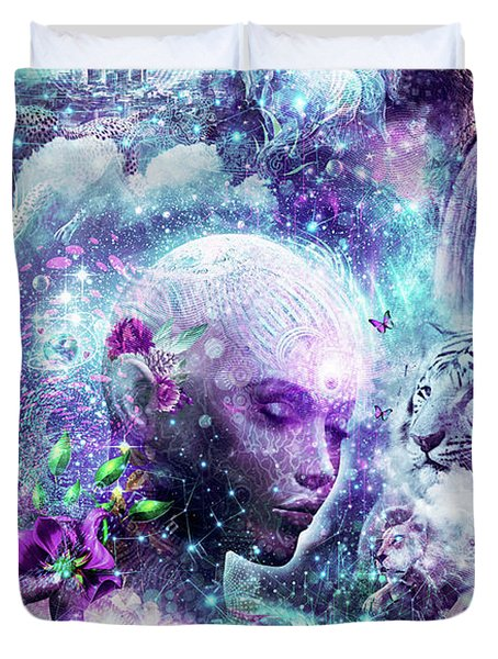 Discovering The Cosmic Consciousness Duvet Cover by Cameron Gray