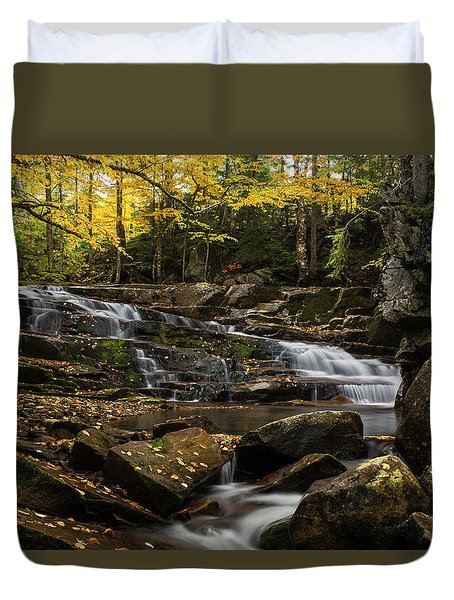 Discovery Falls Autumn Duvet Cover