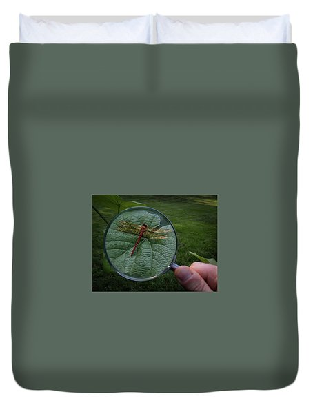 Duvet Cover featuring the photograph Discovery by Mark Fuller