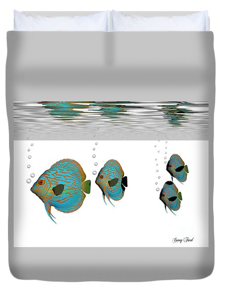 Discus Fish Duvet Cover by Corey Ford