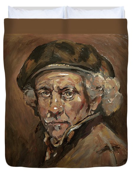 Disguised As Rembrandt Van Rijn Duvet Cover
