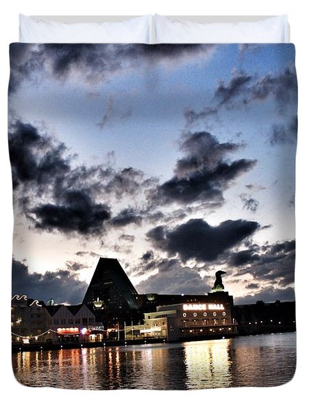 Disney Boardwalk Sunset Duvet Cover
