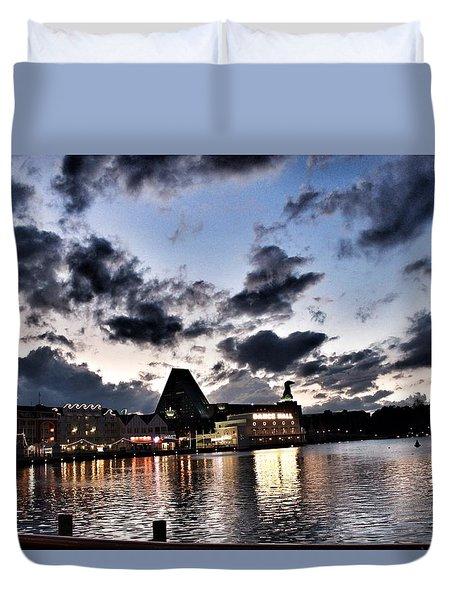 Disney Boardwalk Sunset Duvet Cover