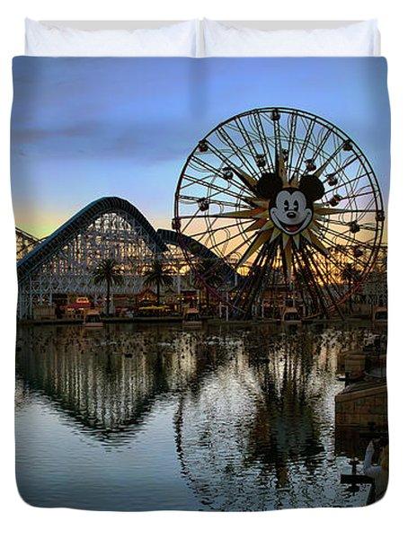 Disney California Adventure Panorama Duvet Cover