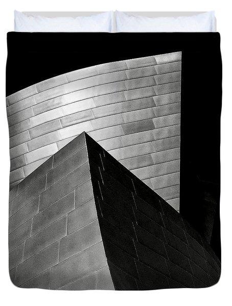 Disney Concert Hall Black And White Duvet Cover