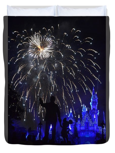 Duvet Cover featuring the photograph Disney Land by Alex King