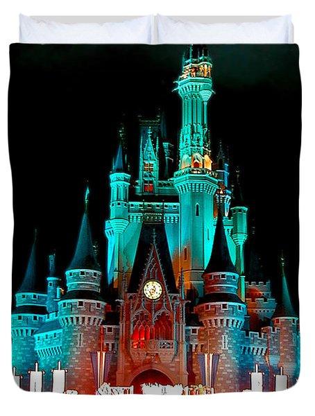 Duvet Cover featuring the photograph Disney World Night by John Haldane