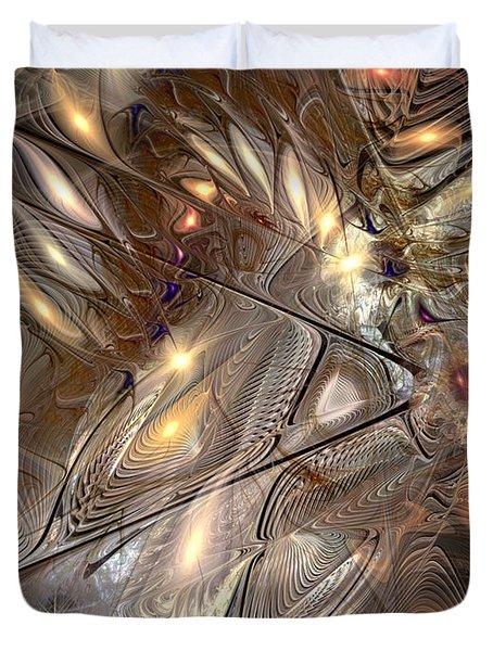 Disorderly Relativistic Interpretations Duvet Cover by Casey Kotas