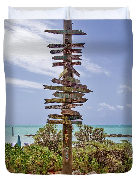 Distance From Key West Duvet Cover