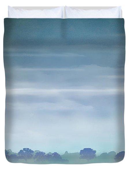 Distant Blue Haze Duvet Cover